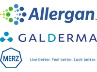 Allergan, Galderma and Merz Logos
